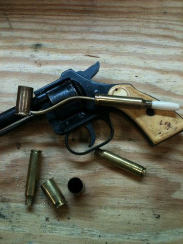 Bullet jewelry, Novelty pipe, .45/.223 brass tobacco pipe