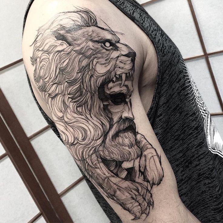 """""""Hercules do Miguel valeu mano mais uma vez  #eletricink  @inkonik_tattoo_studio"""""""