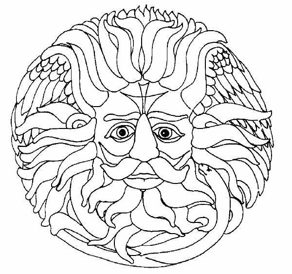 green man coloring pages - photo#23