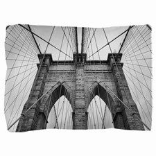 Brooklyn Bridge New York City close up Pillow Sham for