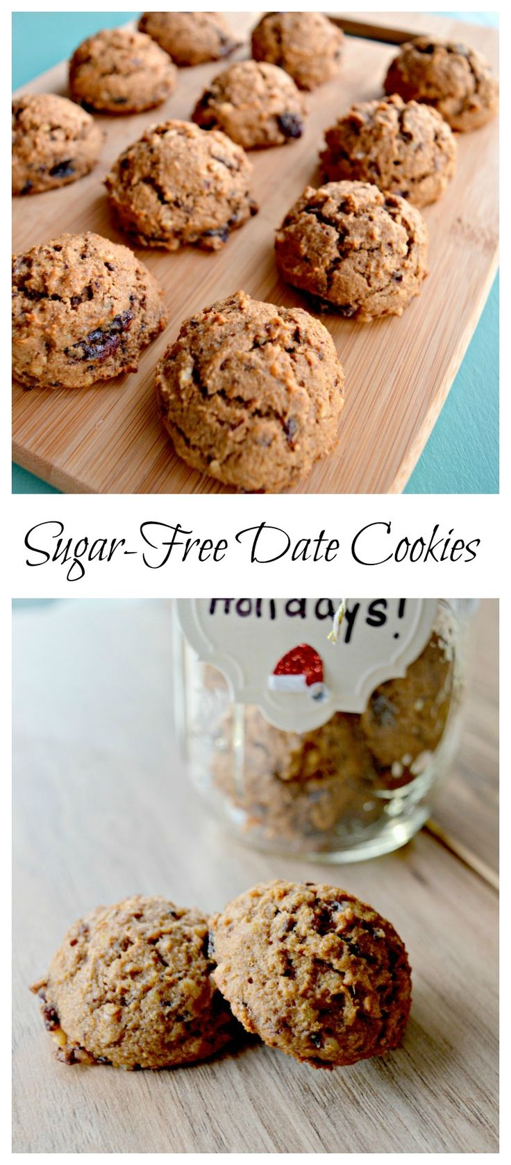 sugar free date cookies - sub 1/2 c coconut oil & 1/2 c butter for margarine.