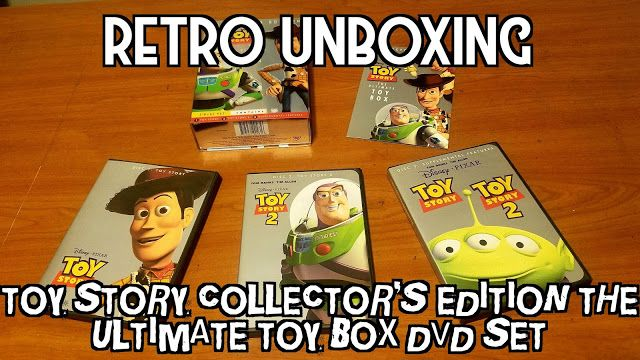 Retro Unboxing Toy Story Collector S Edition The Ultimate Toy Box Dvd Set Toy Story Unboxing Dvd Set