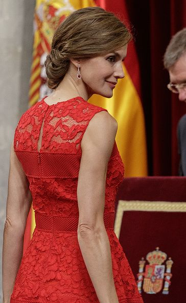 Queen Letizia of Spain attends the commemoration of first democracy election at Congress of deputies on June 28, 2017 in Madrid, Spain.