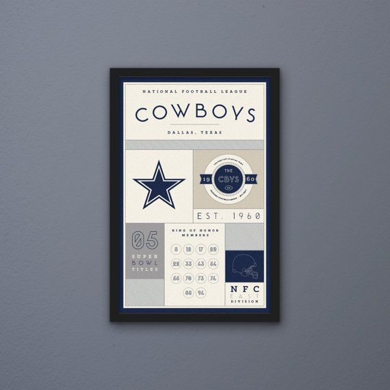 Dallas Cowboys Stats Print by PortlySportsman on Etsy