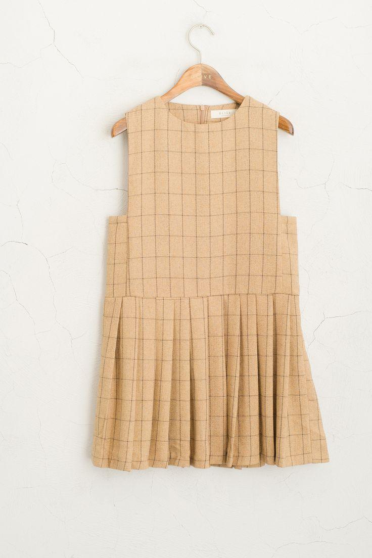 Olive - Check Sleeveless Dress, Beige, £55.00 (http://www.oliveclothing.com/p-oliveunique-20150916-095-beige-check-sleeveless-dress-beige)