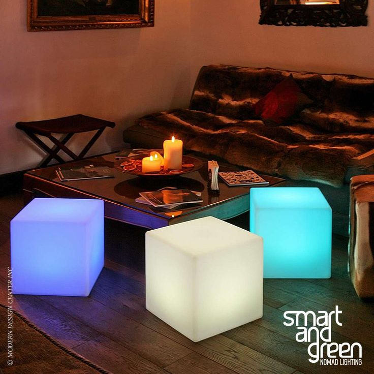 Cube Sharp LED Cordless Lamp By Smart Green