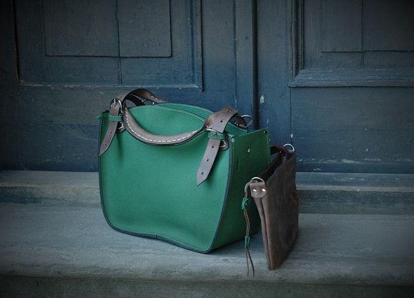 Leren tassen - lederen tas handgemaakt - Een uniek product van ladybuqartstudio op DaWanda