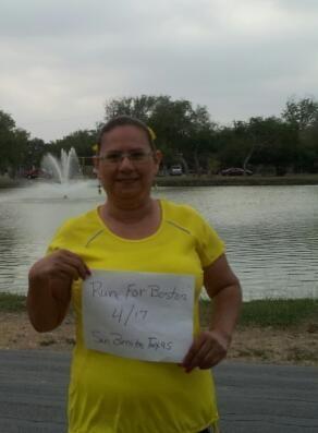 "My ""Run For Boston"", San Benito, Texas.."