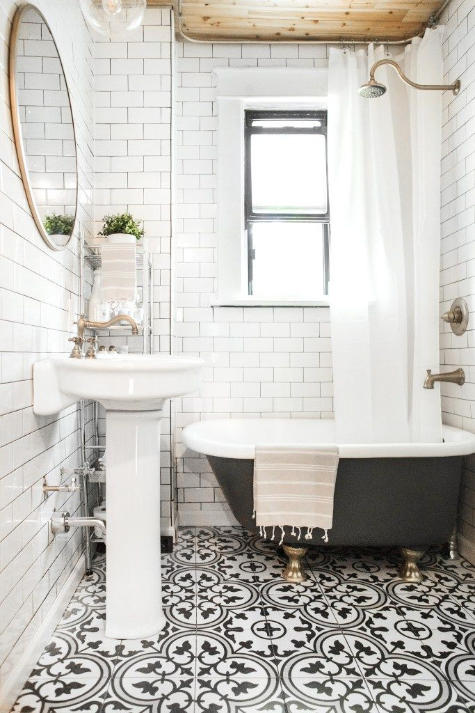 Great Black And White Bathroom More