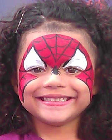 Spiderman Face Painting www.childrenspartiesnyc.com kids face paint nyc