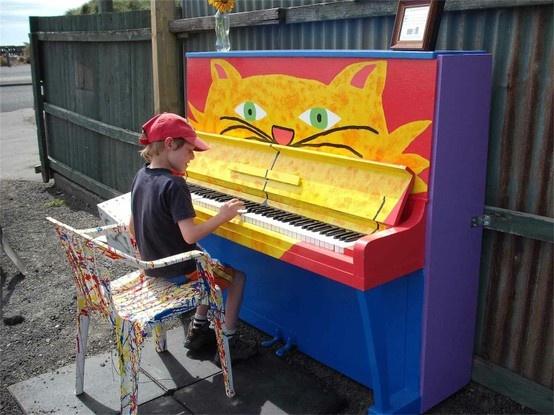 Piano graffiti chat. Cours de piano/tutoriel : www.mon-cours-de-piano.fr