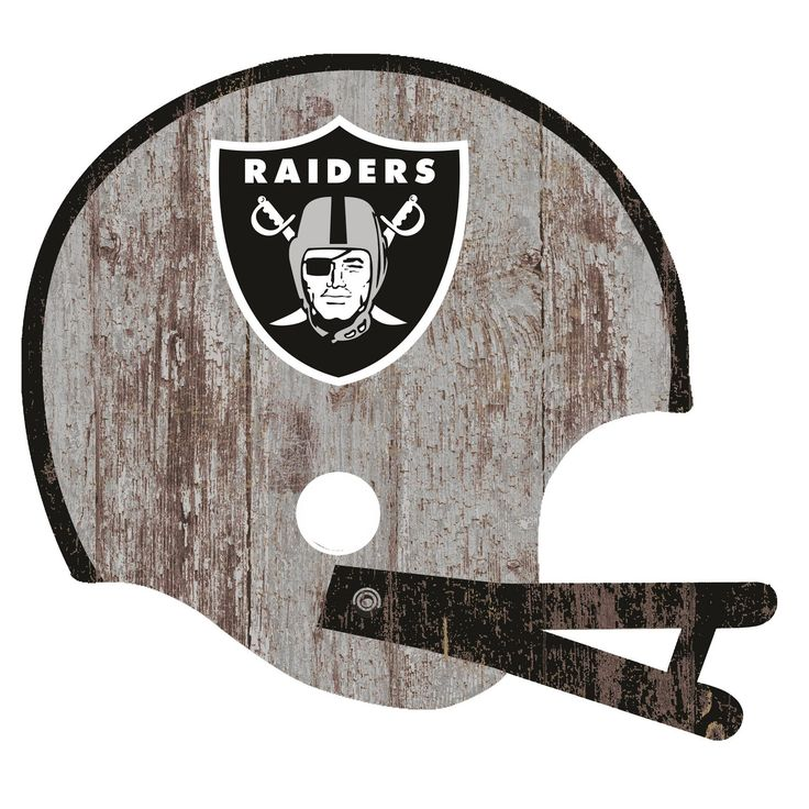 NFL Oakland Raiders Fan Creations Distressed Helmet Cutout Sign