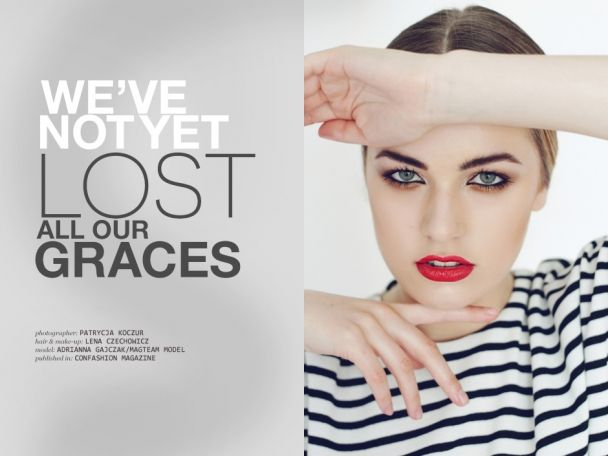 """Patrycja Koczur: """"We've not yet lost all our graces"""" http://www.confashionmag.pl/webitorial/we-ve-not-yet-lost-all-our-graces.html"""