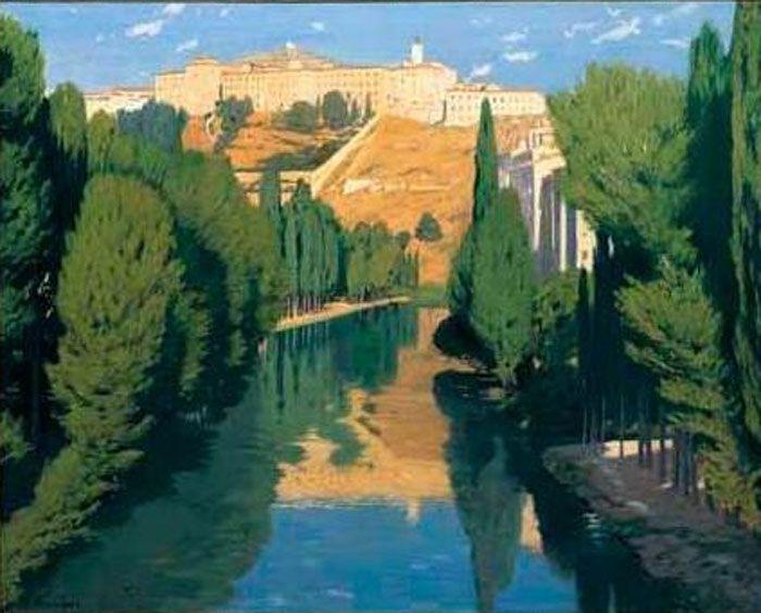 Santiago Rusiñol - Atardecer en el rio