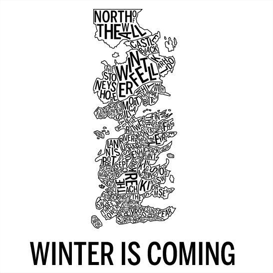 Winter is coming svart