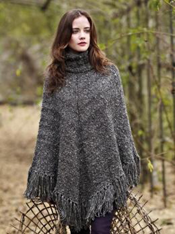 Knitting Patterns For Shrugs With Shawl Collar : 983 best images about Knitted Ponchos, Shawls, Shrugs on Pinterest
