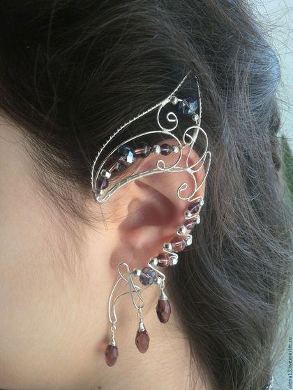 Wire wrapped elf ear cuff / Каффы ручной работы. Ярмарка Мастеров - ручная работа. Купить Ушки эльфийские.. Handmade. Ушки эльфийские, подарок девушке