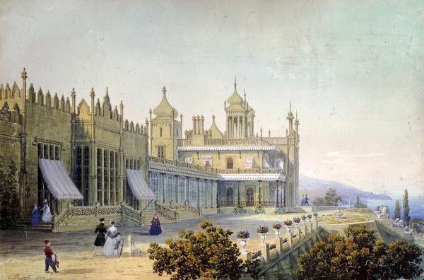 Vorontsov Palace At Alupka, Yalta, Crimea by Bossoli, Carlo - Wall Art Giclee Print or Canvas