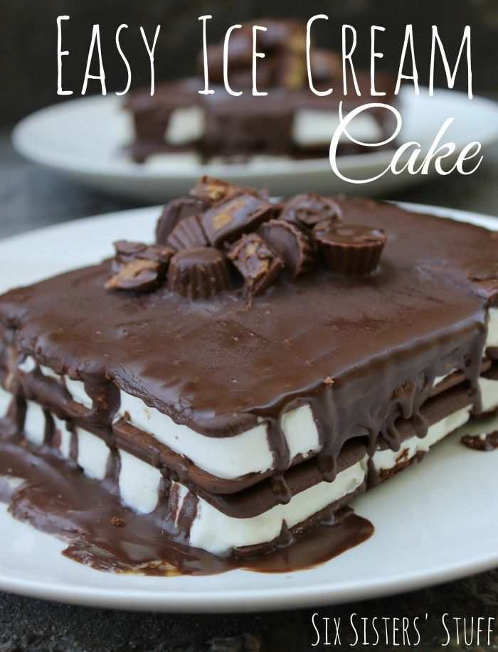 Six Sisters Easy Ice Cream Cake is one of our favorites and can be made in no time at all!