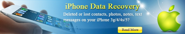 http://www.any-data-recovery.com/topics/mobile-devices/iphone-recovery.html If you are one of million iPhone users, you may worry about losing all your personal data on yoru phone after it is broken, lost or stolen. Here I tell you a way to recover data from iPhone without your phone or iTunes.