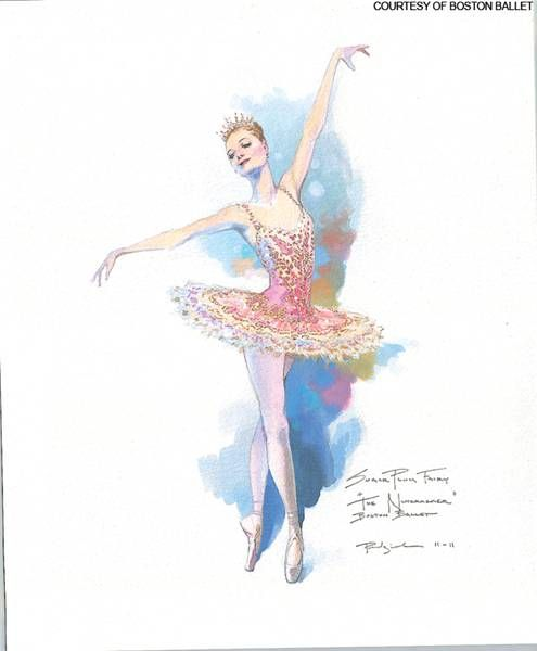 Sugar plum fairy costume design from Boston Ballet's The Nutcracker