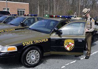 Maryland state police car