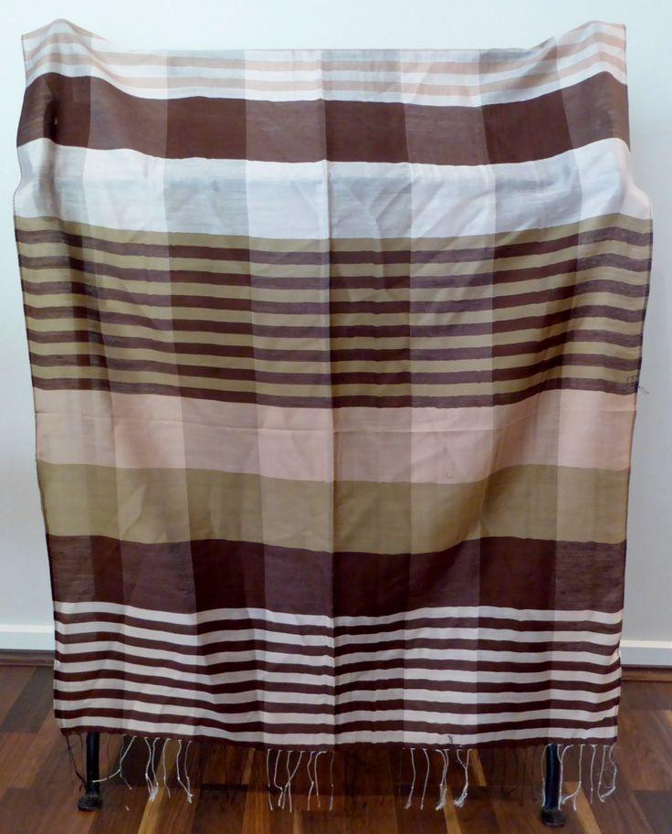 Scarf / Wrap / Shawl, 100% Silk, Neutral Palette, Luxurious, #12 by WanderingThreadz on Etsy