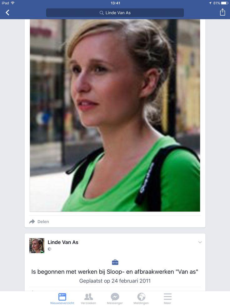 """Rilke Eyckermans alias Linde van As directie secretaresse bij """"de zonen van Van As"""". Ze speelt haar rol geweldig. Dit Fb account kwam langs in seizoen 2. Het bestaat nog echt ook😂😂"""