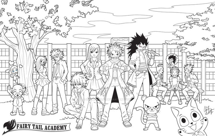 chibi fairy tail coloring pages - photo#33