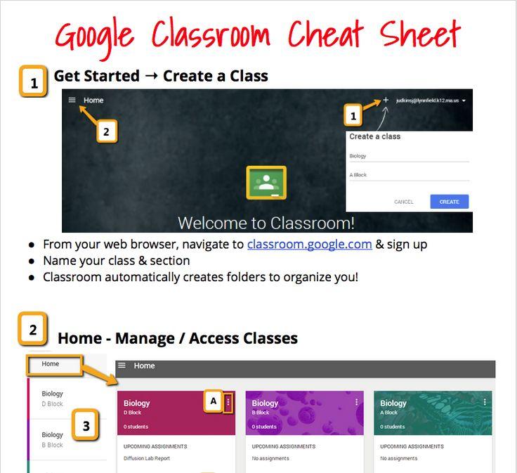 Google Classroom Cheatsheet