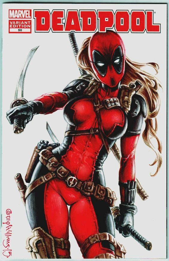 Lady Deadpool variant cover by PlanetDarkOne on DeviantArt: