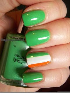 Fingerspainted: Green Week- Irish Flags:-)