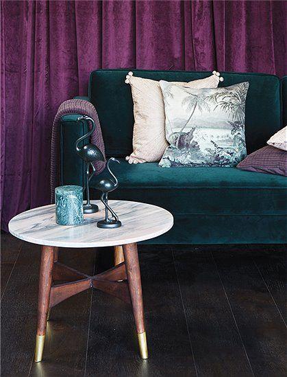 Beistelltisch Marmor von AU Maison ✓aus Marmor/Holz ✓Couchtisch ✓runde Tischplatte ✓skandinavisches Design ✓neu