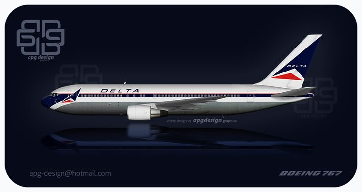 Another retro livery by apg-design - This time a Delta Airlines Boeing 767-200.