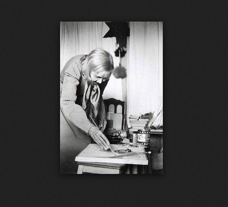 История любви: Михаил Ларионов и Наталья Гончарова. Обсуждение на LiveInternet - Российский Сервис Онлайн-Дневников. Наталья Гончарова за работой Фото: Denise Colomb. 1950