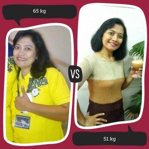 Rajin mengkonsumsi Nutrishake sehari min 3x, 30menit sebelum sarapan pagi, 30 menit sebelum makan siang dan makan malam... membuat tubuhku menjadi sehat dan berat badan turun tanpa nyiksa.....