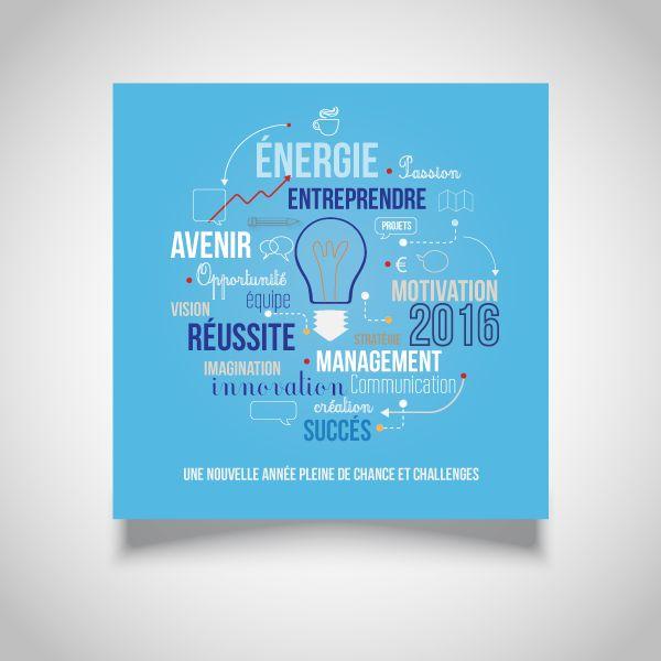 Création de carte de vœux pour Office Dépôt - 2016 on Behance