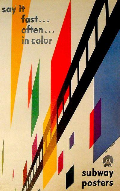 1947 Illustration Poster Erik Nitsche Subway Design