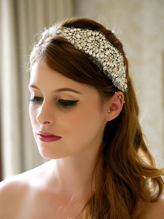 Crystal Bridal Headpiece, Rhinestone Hair Comb, Crystal Bridal Hair Accesories, Art Deco, Great Gatsby, Wedding Hair Piece - Style 308 $100