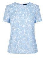 Jacquard Floral t shirt