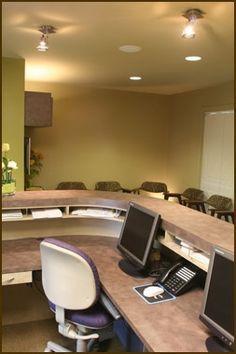 stone reception desk - Google Search