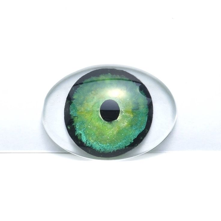 Hand Painted Green Round Pupil Eye Oval Glass Cabochon, 30 x 40 mm, Pendant, Unique, Key Chain Charm, Cosplay Jewelry, Fantasy Art by TheChaoticMindStudio on Etsy
