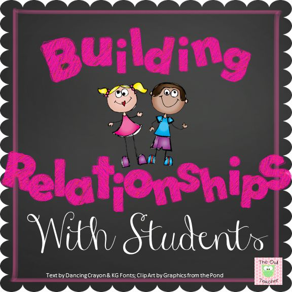 Are you looking for ways to build relationships with your students?  Check out this blog post!