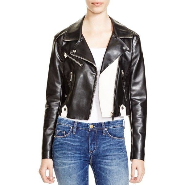 BLANKNYC Faux Leather Once In A Lifetime Moto Jacket ($158) ❤ liked on Polyvore