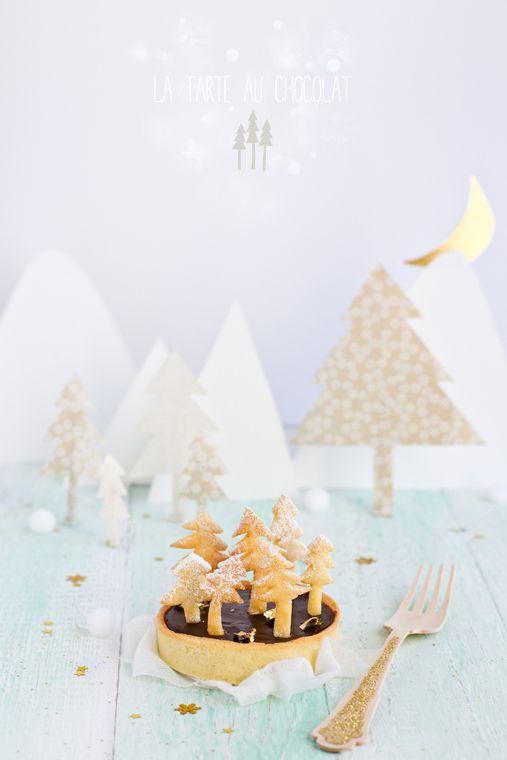 La tarte au chocolat et sa forêt de sapins | Carnets Parisiens