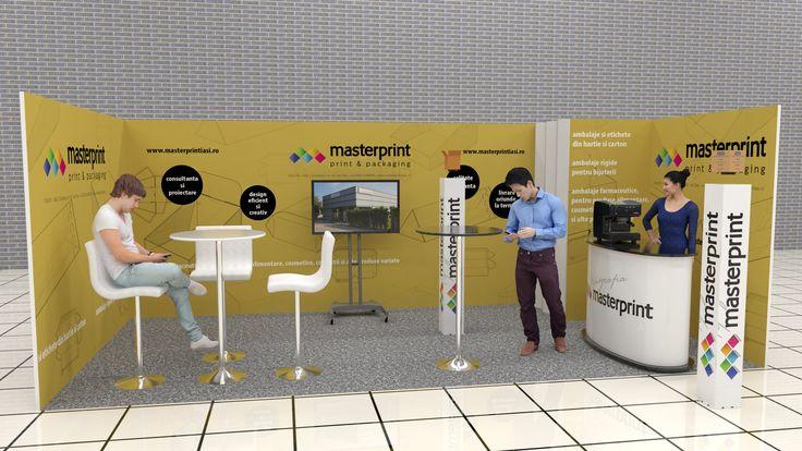 Tip proiect:Simulare 3D, Animatie Client: www.grafica-tipar.ro Timp executie: 3 ore (+2 ore animatie) Detalii: simulare 3D si animatie de prezentare a unui stand expozitional.