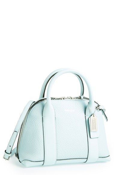 COACH 'Mini Preston' Crossbody Leather Satchel available at #Nordstrom  Perfect for spring
