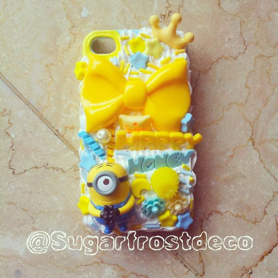 Custom Minion Theme Decoden case for iPhone 4/4s on Etsy, $23.00