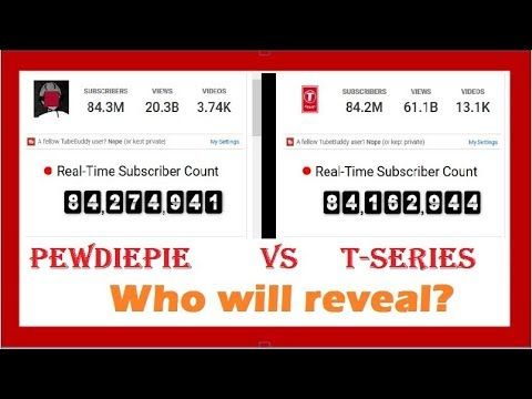 PewDiePie vs T-Series live SUB count by triksbuddy Live Stream