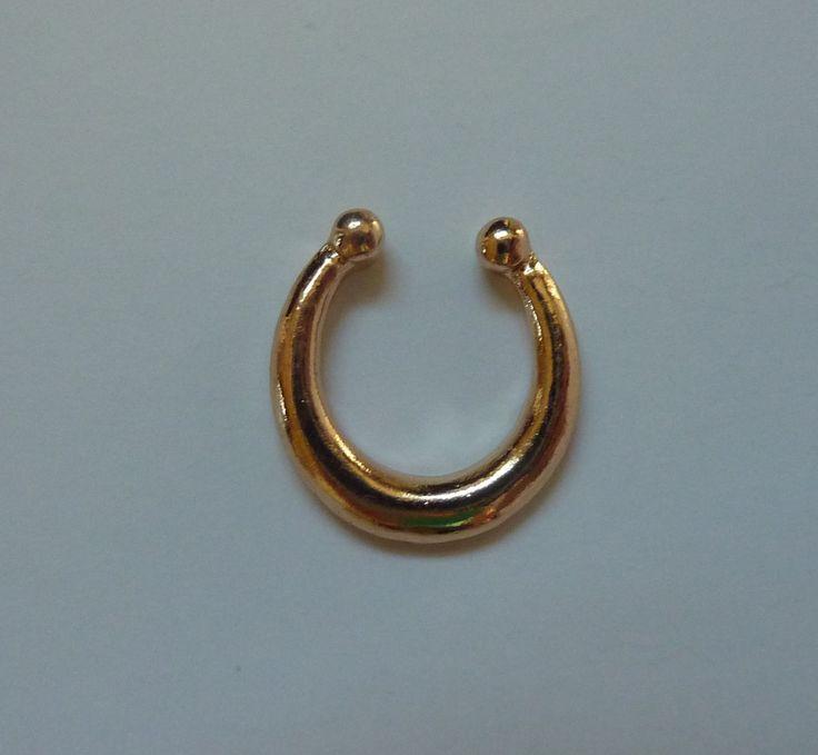 Gold Fake septum ring, fake titanium septum ring, fake nose ring, fake titanium nose ring, gold fake nose ring, fake septum ring,septum, G15
